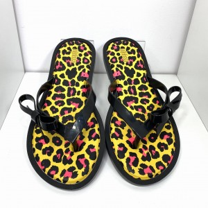 JAPONKI MELISSA FLIP FLOP ANIMAL PRINT 32651 BLACK/YELLOW
