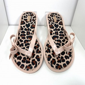 JAPONKI MELISSA FLIP FLOP ANIMAL PRINT 32651 LIGHT PINK/BLACK
