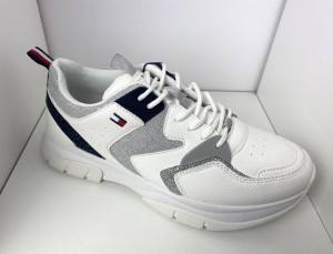 Sneakersy damskie Tommy Hilfiger T3A4-31034 White/Silver