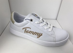 Sneakersy damskie Tommy Hilfiger T3A4-31020 White Platinium
