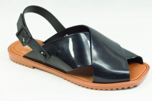 BALERINKI MELISSA 31913/50801 BLACK/BROWN
